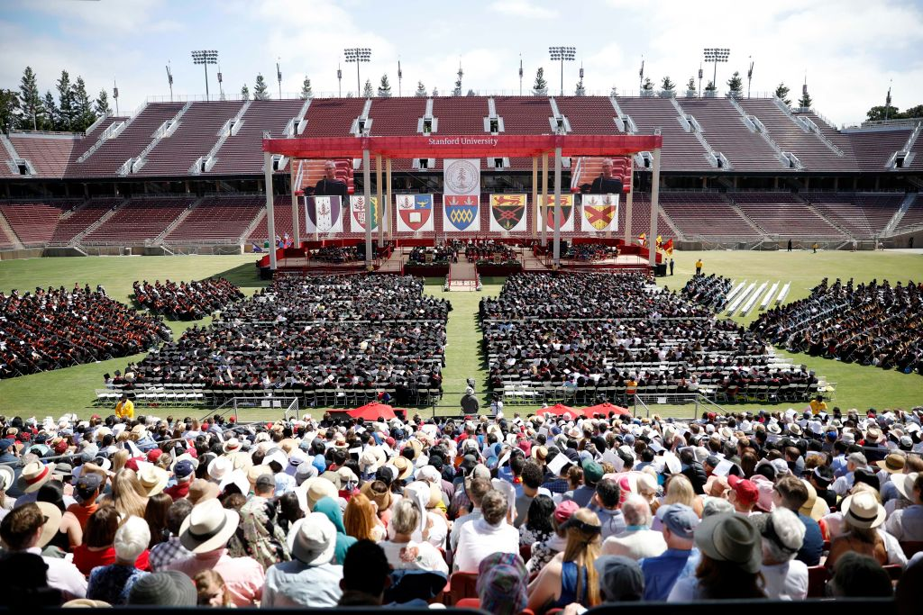 Of the 69 business schools appearing on Fortune's list of those offering the best MBA programs, alumni of Stanford University's Graduate School of